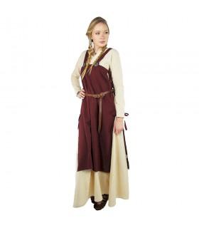 Mittelalter Tunika für Damen Hildegard, rot