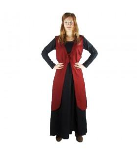 Sobrevesta medieval modelo Brisella, color rojo