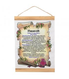 Banderín con marco de madera Personalizado con tu Nombre (30x45 cm.)