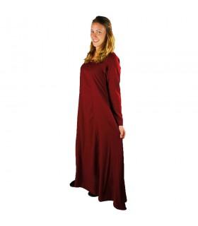 Túnica roja larga señora Medieval modelo Scarlet