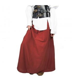 Falda medieval modelo Diana, rojo