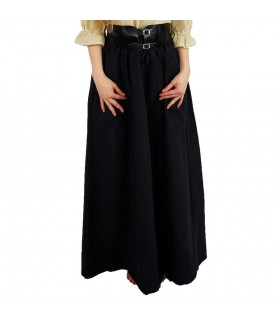 Falda medieval modelo Diana, negro
