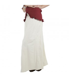 Falda medieval mujer Smilla, blanco natural