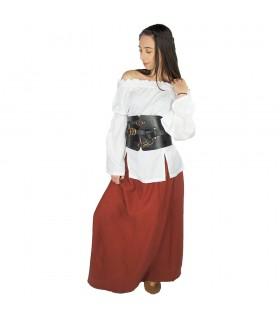 Falda medieval mujer Smilla, rojo