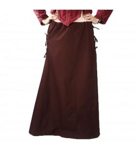 Falda medieval modelo Noita, marrón oscuro