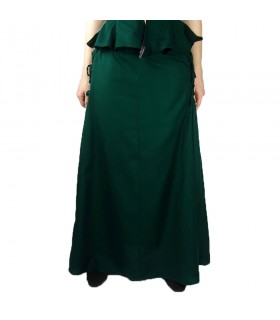 Falda medieval modelo Noita, color verde