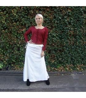 Falda medieval modelo Noita, color blanco