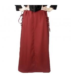 Falda medieval modelo Noita, color rojo