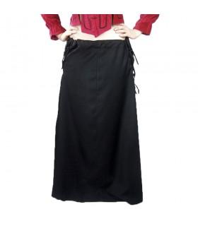 Falda medieval modelo Noita, color negro