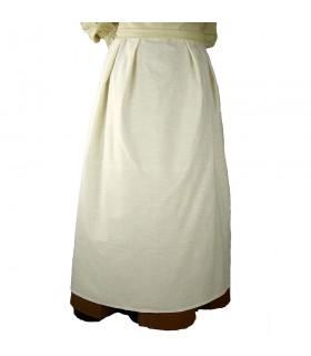 Delantal medieval modelo Lola, blanco natural