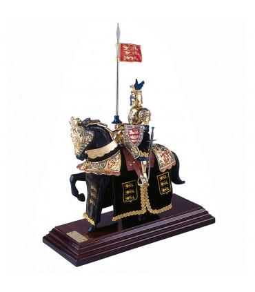 Armadura a caballo Casco de Dragón Dorado y Azul