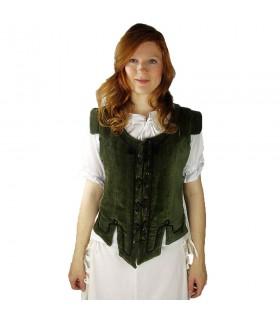 Chaleco medieval modelo Adrienne, verde