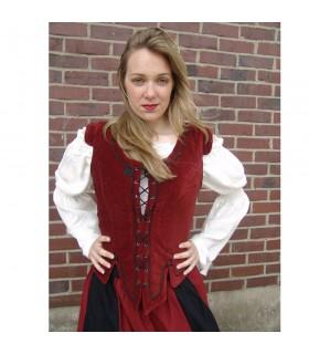 Chaleco medieval modelo Adrienne, rojo