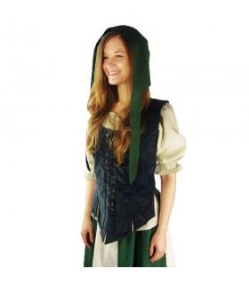 Crespina medieval mujer modelo Alex, verde