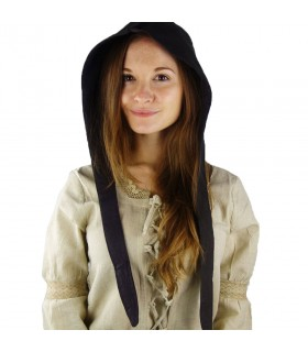 Crespina medieval mujer modelo Alex, marrón