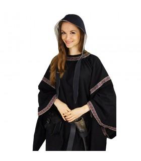 Crespina medieval mujer modelo Alex, negro y blanco natural