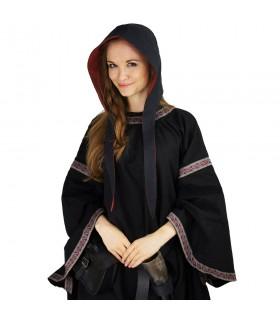 Crespina medieval mujer modelo Alex, negro y rojo