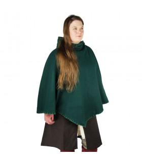 Gugel vikingo Egill, lana verde