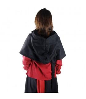 Gugel medieval de lana modelo Anita, negro