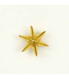 Estrella de 6 puntas metálica para uniforme