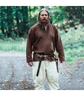 Túnica vikinga Ivar, marrón oscura