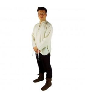 Camisa medieval modelo Batrholomeus, color blanco natural
