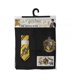 Pack Hufflepuff compuesto de túnica, corbata y tatuajes, Harry Potter