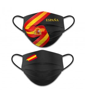 Accesorio facial reversible Nivel 3, Bandera Española