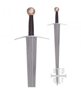 Espada funcional de una mano Oakeshott XIV, pomo cobre