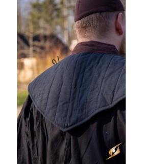 Gorjal medieval acolchado, negro-marrón