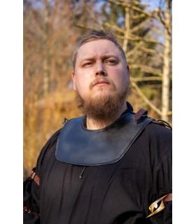 Gorjal de guerrero medieval, color oscuro