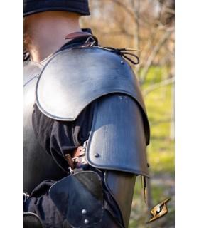 Hombreras de Guerrero medieval, acabado negro