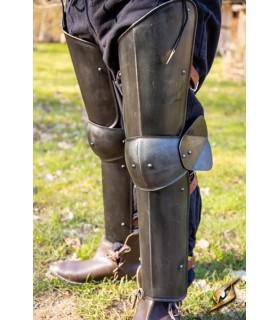 Protectores piernas de Soldado, acabado negro