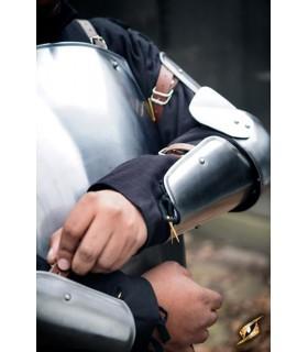 Protectores medievales de brazo, acabado pulido