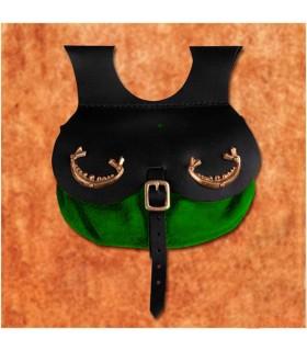 Bolso vikingo modelo Thane, color verde
