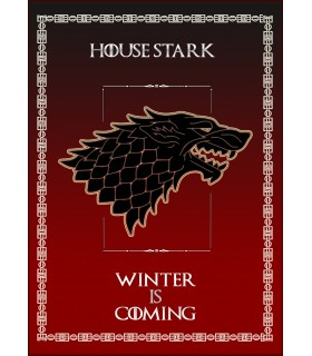 Estandarte Juego de Tronos House Stark (50x70 cms.)