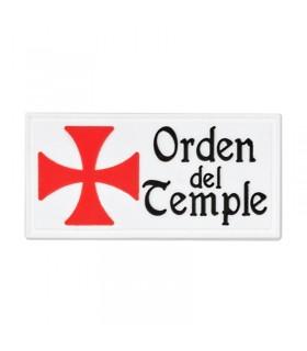 Parche Orden del Temple con velcro (6x3 cm.)