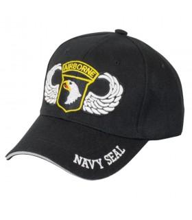 Gorra negra Airbone NAVY SEAL