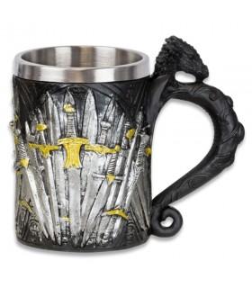 Taza decorativa medieval espadas