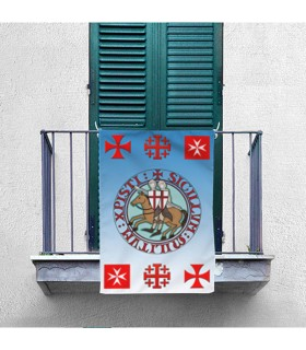 Estandarte Medieval Caballeros y Cruces Templarias (70x100 cms.)