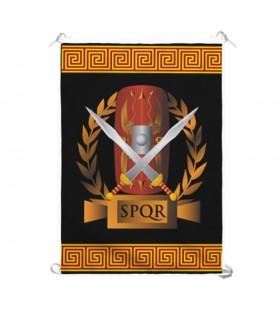 Estandarte Legión Romana SPQR, escudo y gladius (70x100 cms.)