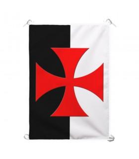 Estandarte Bicolor Cruz Templaria Paté (70x100 cms.)