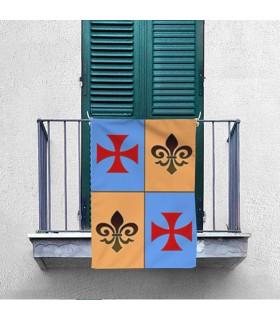 Estandarte Medieval Cuartelado Cruz Templaria (70x100 cms.)