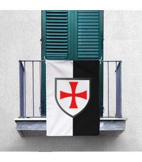 Estandarte Bicolor con Cruz Paté Caballeros Templarios (70x100 cms.)