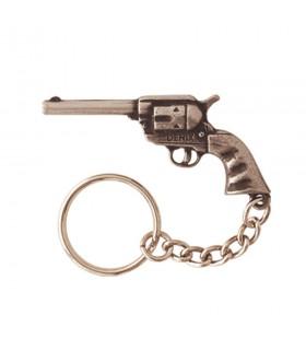 Llavero revolver corto del oeste