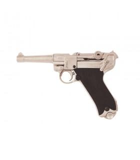 Pistola Parabellum Luger P08 niquelada
