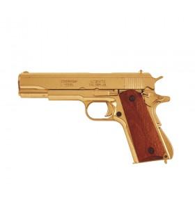 Pistola automática M1911A1 latonada