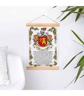 Banderín con marco de madera Personalizado con tu Apellido (30x45 cm.)