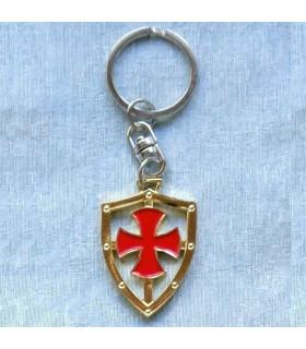 Llavero con la cruz de los Templarios