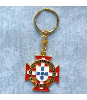 Llavero con la cruz de los Caballeros de Cristo